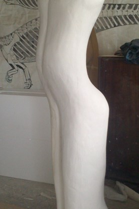 The big man model in foam and plaster